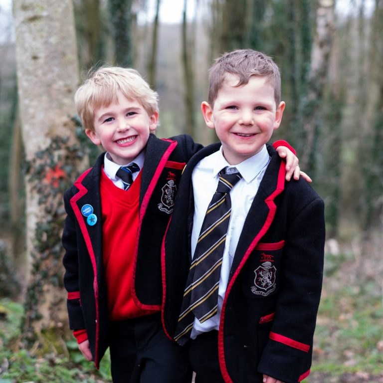Lucton School boys in uniform
