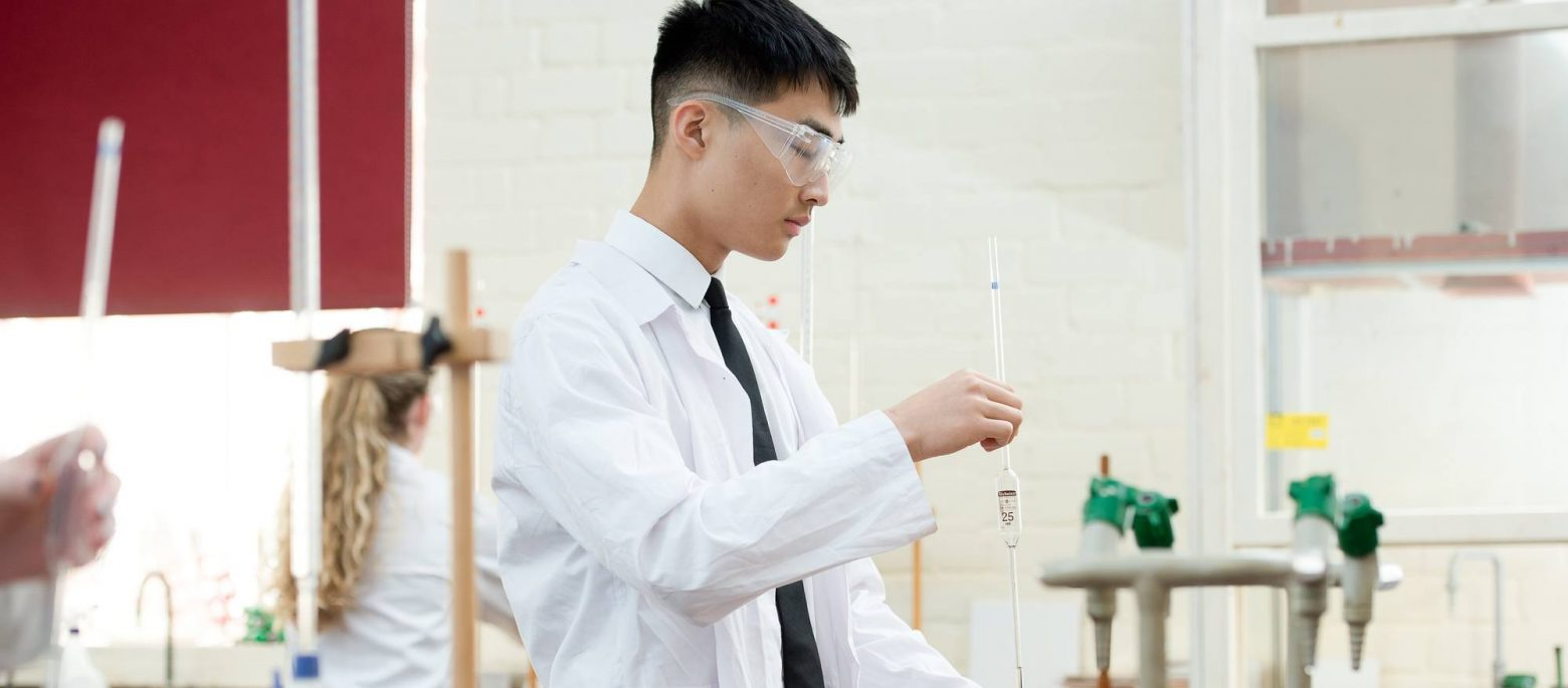 Lucton School science student