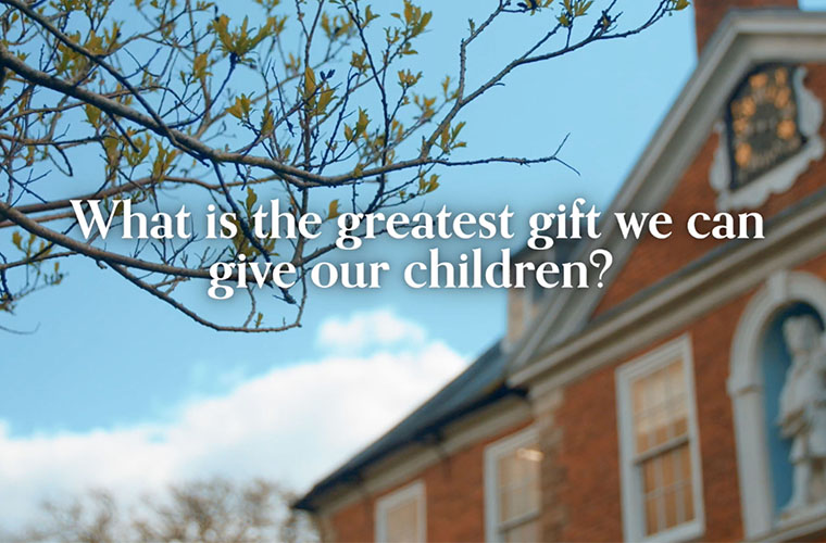 What is the greatest gift we can give our children?